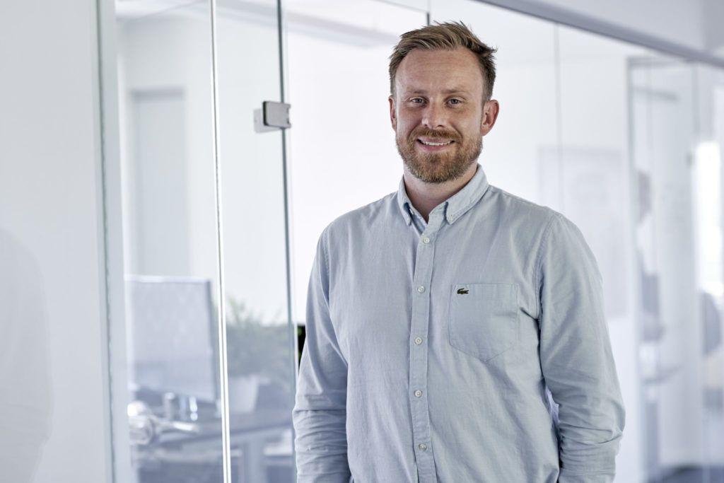 Portræt af Peder Skovlunden-Pedersen