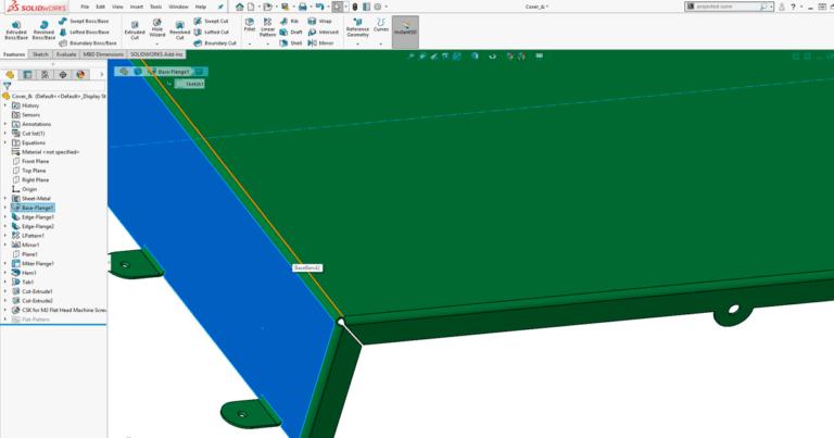 SOLIDWORKS sheet metal - tyndpladekonstruktion