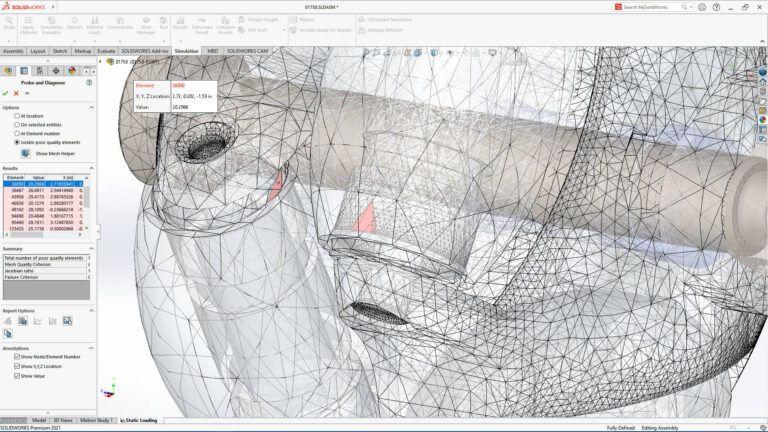 solidworks simulation 2021
