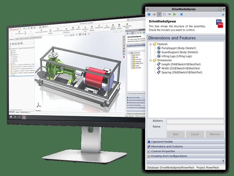 solidworks DriveWorksXpress capture