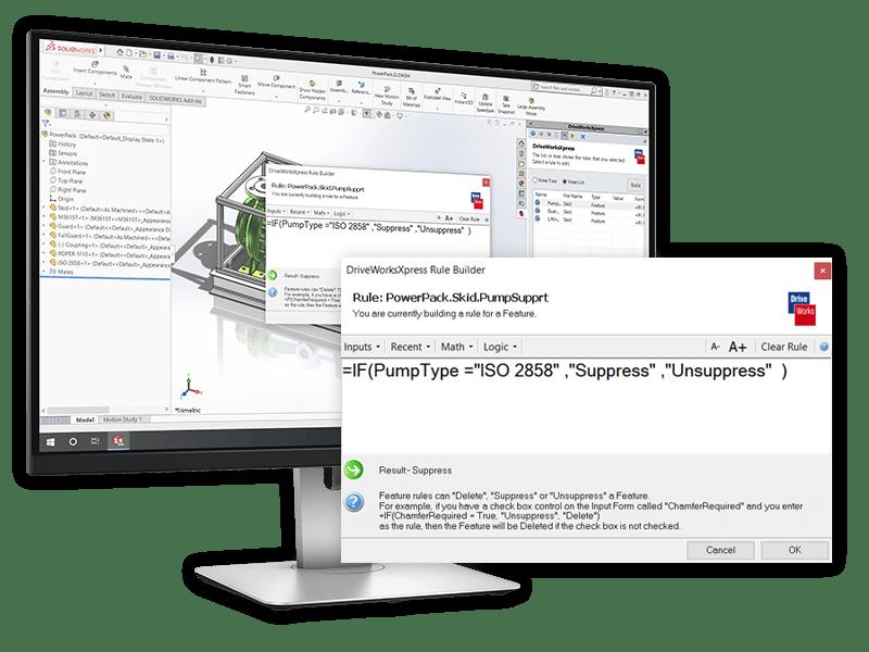 solidworks DriveWorksXpress rulesbuilder